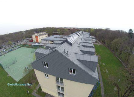 Sanierungspreis 16 in der Kategorie Metall - Energetische Dachsanierung Albertinum München, Luftbild