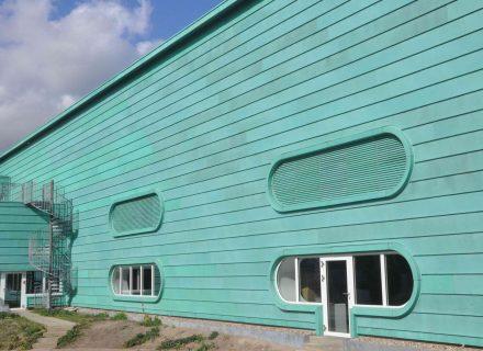 Sanierungspreis in der Kategorie Metall - Fassadensanierung einer Fabrikations- und Lagerhalle, nach der Sanierung