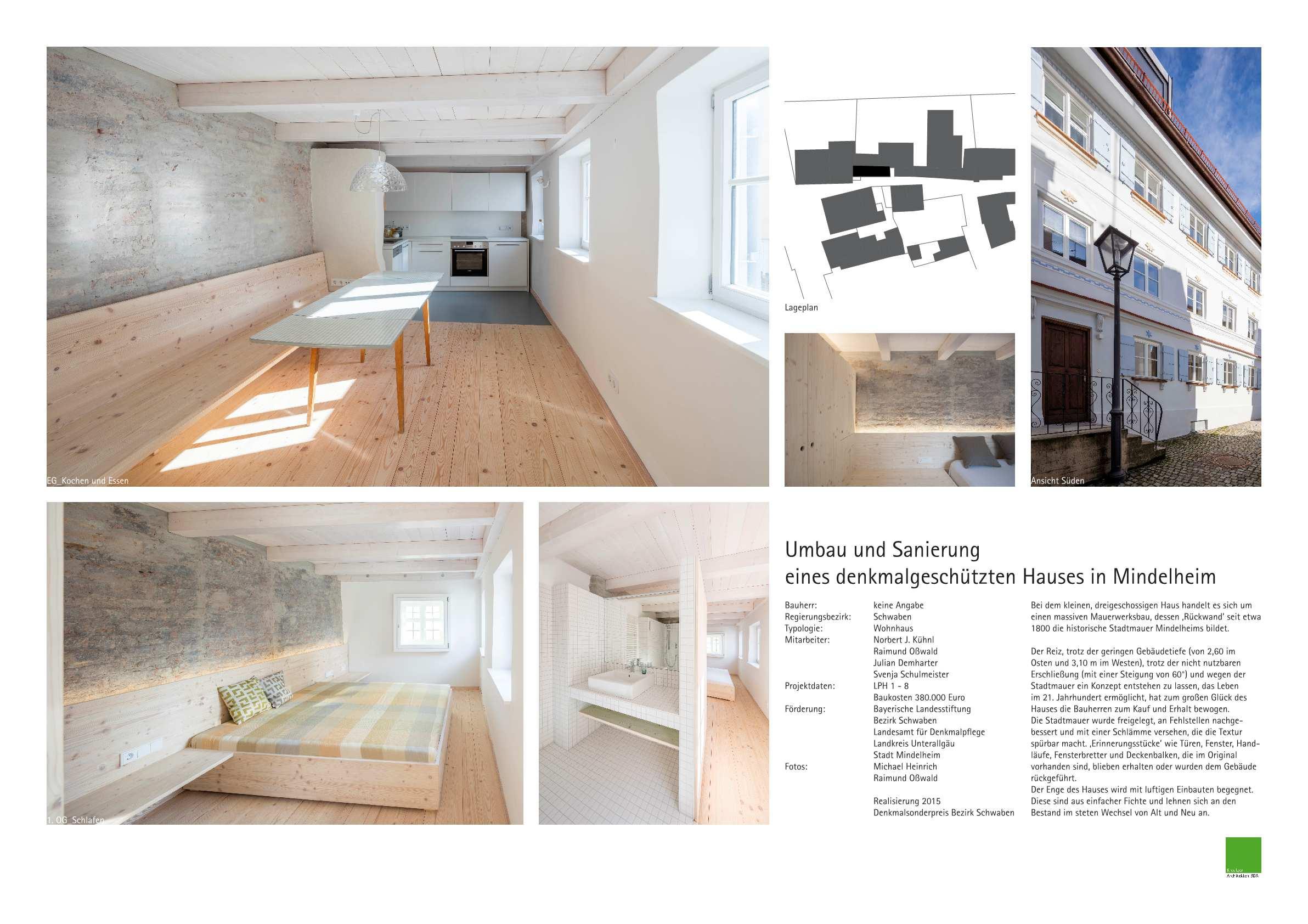Umbau Und Sanierung Eines Denkmalgeschutzten Hauses In Mindelheim